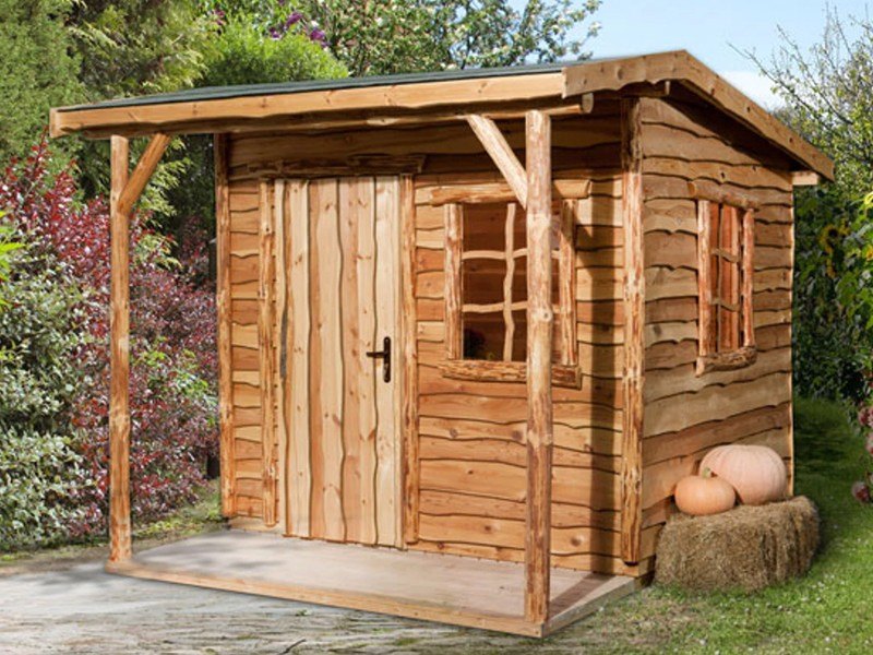 WEKA Marktstand Almhütte 820 Gr.1, natur mit Vordach - ohne Tresen und Sitzgelegenheit