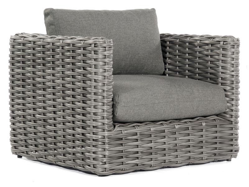 "SonnenPartner Lounge-Sessel ""Sands"" PE-Kunststoffgeflecht charcoal inkl. Kissen"