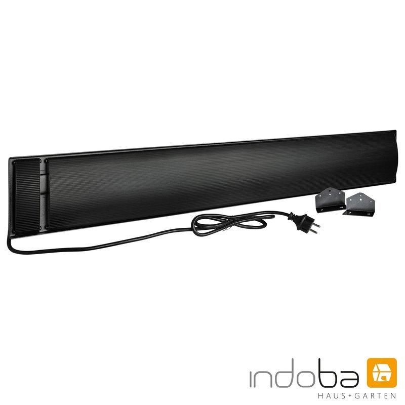 INDOBA Heizstrahler - Infrarotheizer - Dunkelstrahler - Wandmontage 99,5 cm x 4,5 cm x 17,5 cm