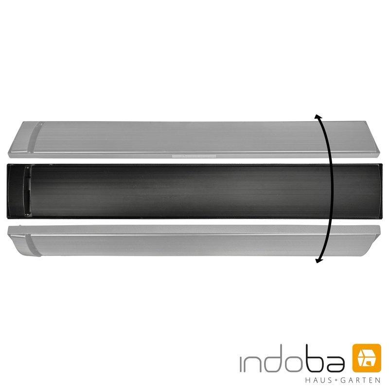 INDOBA Heizstrahler - Infrarotheizer - Dunkelstrahler - Wandmontage 129,5 cm x 4,5 cm x 17,5 cm