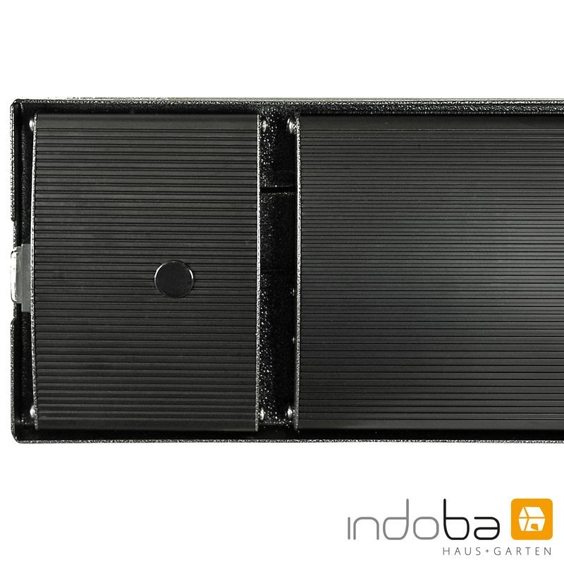 INDOBA Heizstrahler - Infrarotheizer - Dunkelstrahler - Wandmontage 120,5 cm x 4,5 cm x 17,5 cm