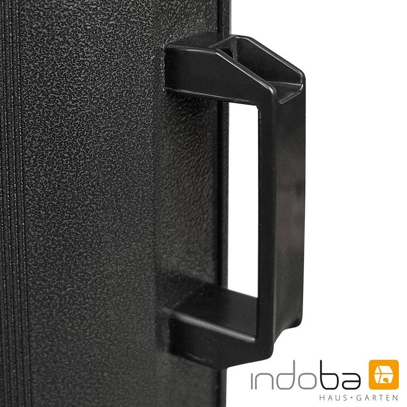 INDOBA Heizstrahler - Infrarotheizer - Standgerät - mit 2 Leistungsstufen 35 cm x 35 cm x 113 cm