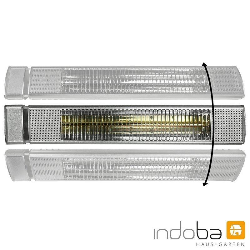 INDOBA Heizstrahler - Infrarotheizer - Wandmontage  61 cm x 8 cm x 10 cm