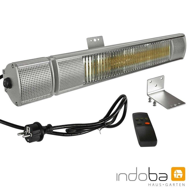 INDOBA Heizstrahler - Infrarotheizer - Wandmontage - mit 3 Leistungsstufen 68 cm x 8 cm x 10 cm