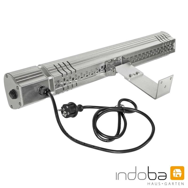 INDOBA Heizstrahler - Infrarotheizer - Wandmontage - mit reduzierter Lichtstärke 64 cm x 8 cm x 10 cm