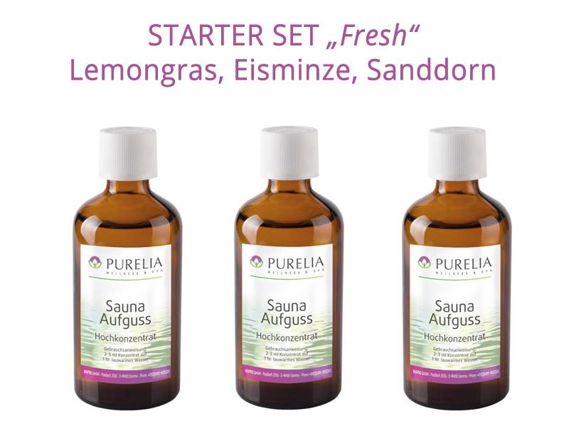 """Starter Set 3: Saunaaufguss """"Fresh"""" - 3x 50 ml - Lemongras, Eisminze, Sanddorn"""