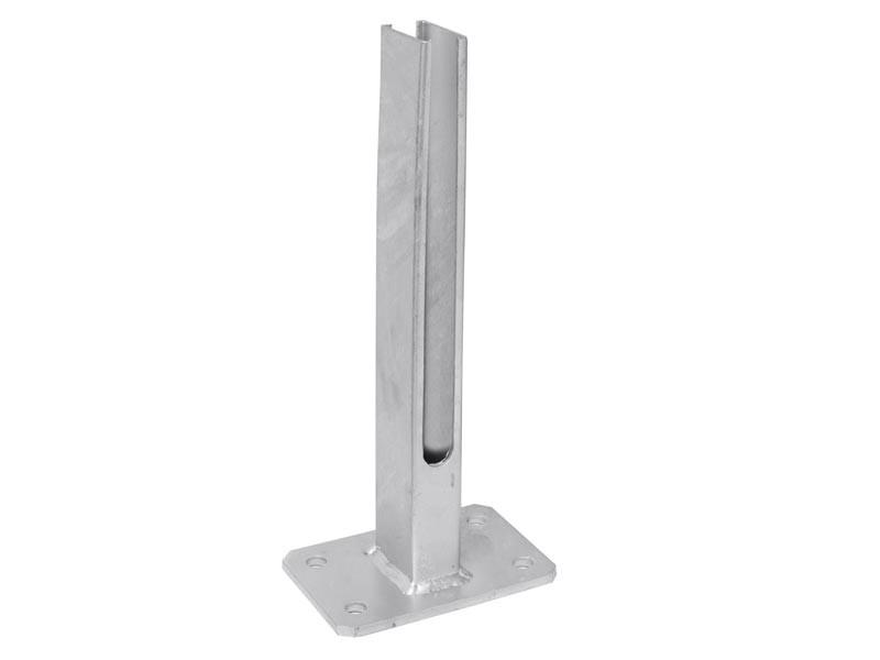 Fußplatte Doppelstabgitterzaun Zaunpfosten Typ Universal RAL7016 anthrazitgrau