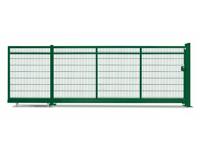 Schiebetor Freitragend V-Star F60 RAL 6005 moosgrün (B: 4500mm x H: 1200 mm)