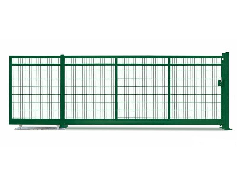 Schiebetor Freitragend V-Star F60 RAL 6005 moosgrün (B: 4500mm x H: 1600 mm)