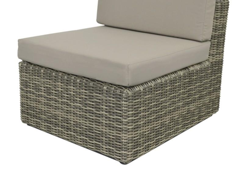 Rattan Loungeelement Turino Mittelsofa - Farbe: grau-braun meliert