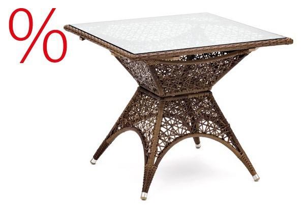 SONDERPOSTEN: Landmann Rattan Tisch Erebia Rattan Tisch ohne Glasplatte - Farbe: Braun