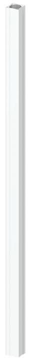 TraumGarten Zaunpfosten Longlife weiß - 8 x 8 x 195 cm