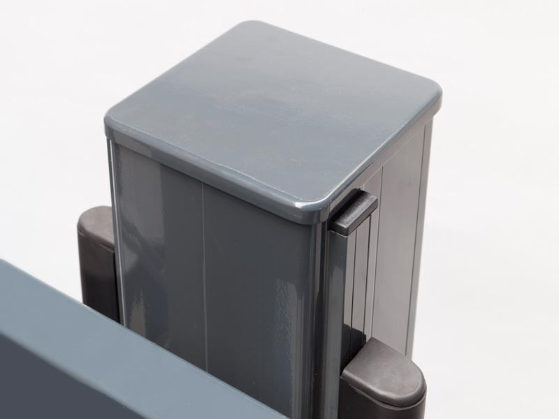 Schiebetor V-Star F60 integriert RAL 6005 moosgrün (B: 3500mm x H: 1400 mm) - elektrisch betrieben
