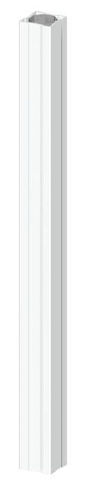 TraumGarten Zaunpfosten Longlife weiß - 8 x 8 x 105 cm