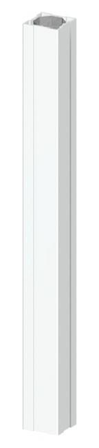 TraumGarten Zaunpfosten Longlife weiß - 8 x 8 x 85 cm