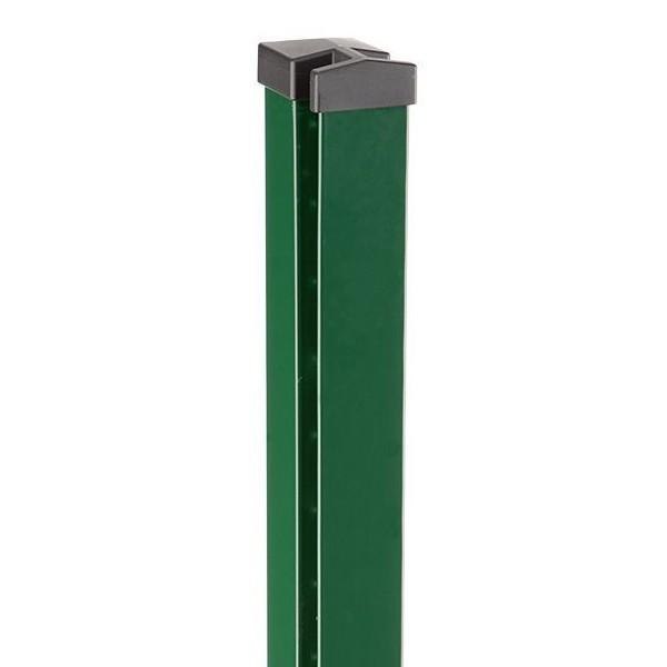 Zaunpfosten Doppelstabgitterzaun Typ HP-MO  RAL 6005 moosgrün Länge: 1300 mm