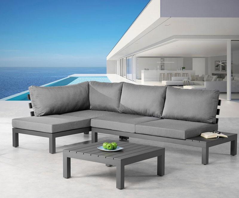 Best Lounge-Gruppe Luanda, 3-tlg. Stellfläche 163 x 273 cm, inkl. Auflagen