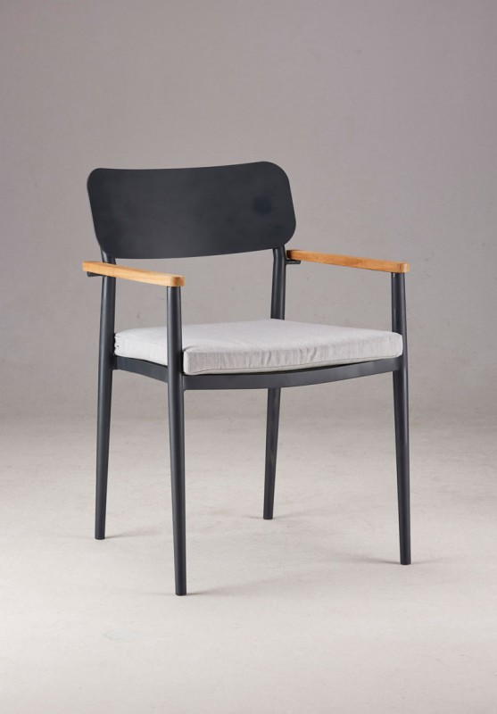 Best Sitzauflage für Sessel Dakar, mit Reißverschluss 51/40 x 49,5 x 5 cm grau
