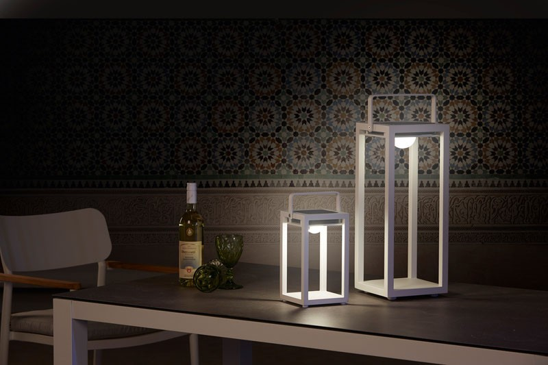 Best-Light Solarleuchten Aluminium inkl. Solarpanel, 21 x 20 x 53 cm weiß