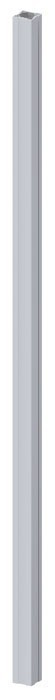 TraumGarten Zaunpfosten Longlife grau - 8 x 8 x 240 cm