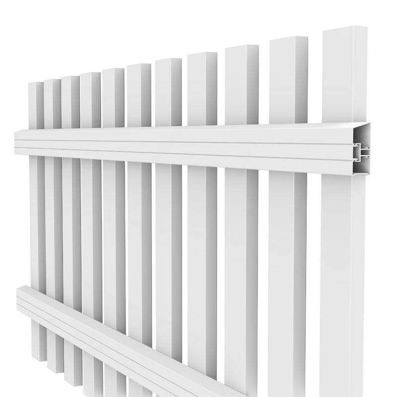 TraumGarten Vorgartenzaun Kunststoff Longlife Cara XL rund - weiß - 180 x 90 (100) cm