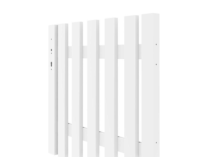 TraumGarten Gartentor Longlife Cara XL DIN links - weiß - 98 x 90 cm