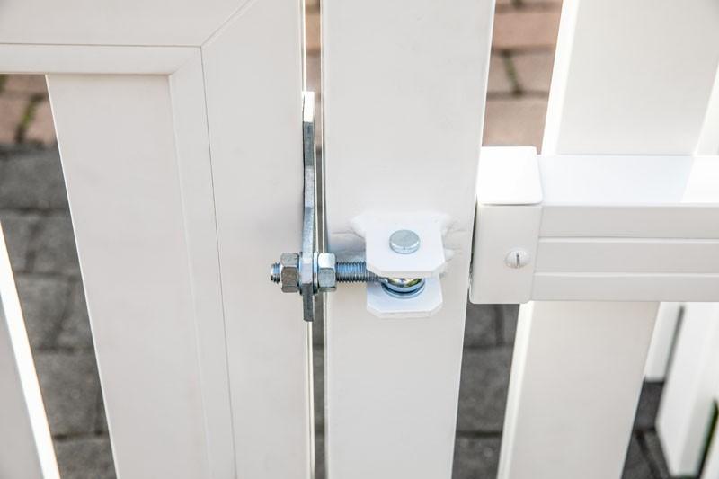 TraumGarten Doppeltor Kunststoff Longlife Cara XL gerade - weiß - 310 x 90 cm