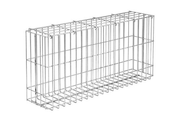 Gabionen-Korb ACHAT silbergrau verzinkt - Höhe: 1500 mm Breite 1040 mm