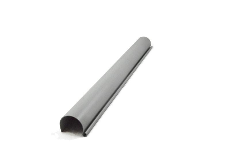 Karibu Dachrinne Set P - für Flachdach bis 555 cm - PVC - grau