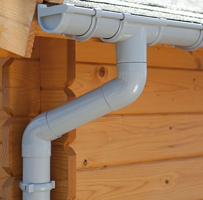 Karibu Dachrinne Set 1  Beidseitig  PVC 3m