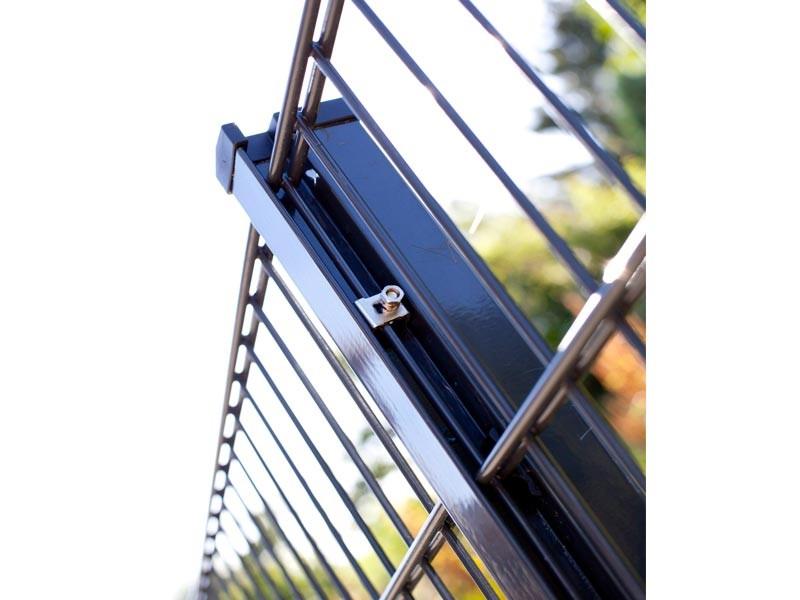 Zaunpfosten Doppelstabgitterzaun Typ HP-MO  RAL 7016 anthrazit Länge: 1700 mm