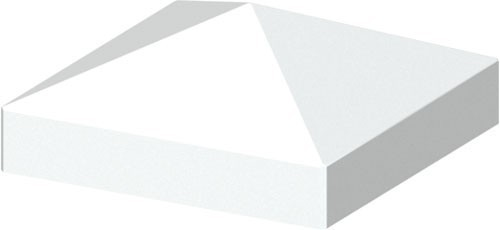 TraumGarten Pfostenkappe Longlife weiß Pyramide - 8 x 8 cm