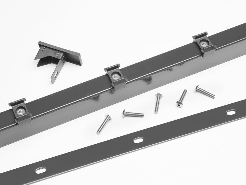 Zaunpfosten Doppelstabgitterzaun Typ A  Silbergrau verzinkt - Länge: 2000 mm