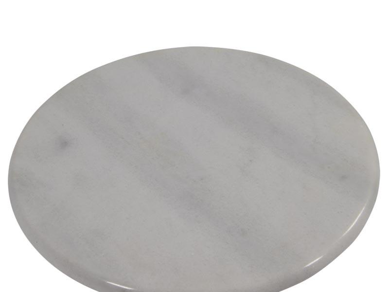 Beistelltisch Marmor weiß Ø30x40cm