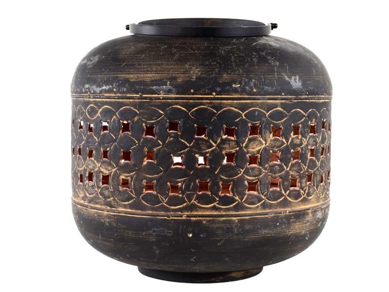 Lanterne Massive sandish/copper ø30x30cm