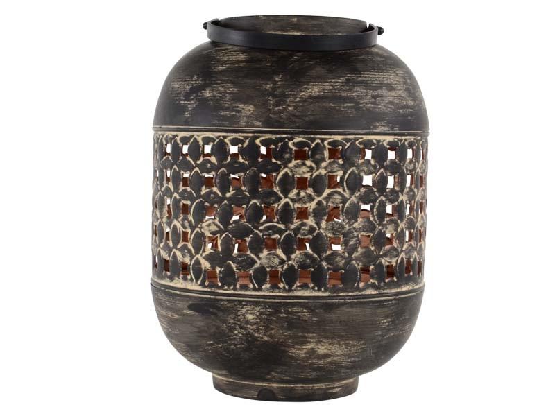 Lanterne Massive sandish/copper ø22x30cm