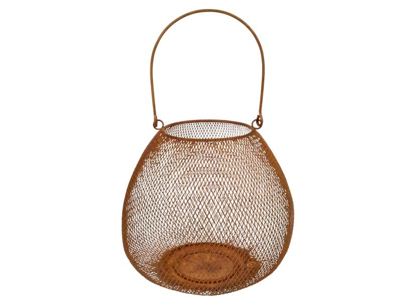 Laterne Mesh Rost 25x25x21cm
