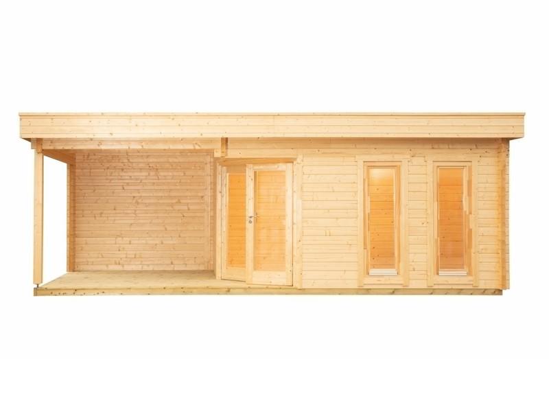 Wolff Finnhaus 2-Raum Saunahaus de Luxe Yurika 70 isoliververglast - naturbelassen