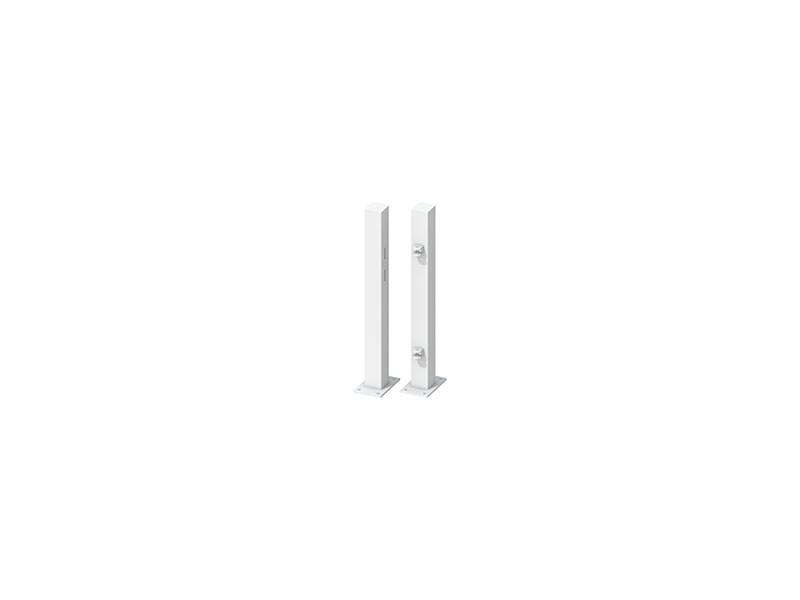 TraumGarten Torpfosten-Set zum Aufschrauben für Einzeltor Weiß - Torhöhe 70 cm