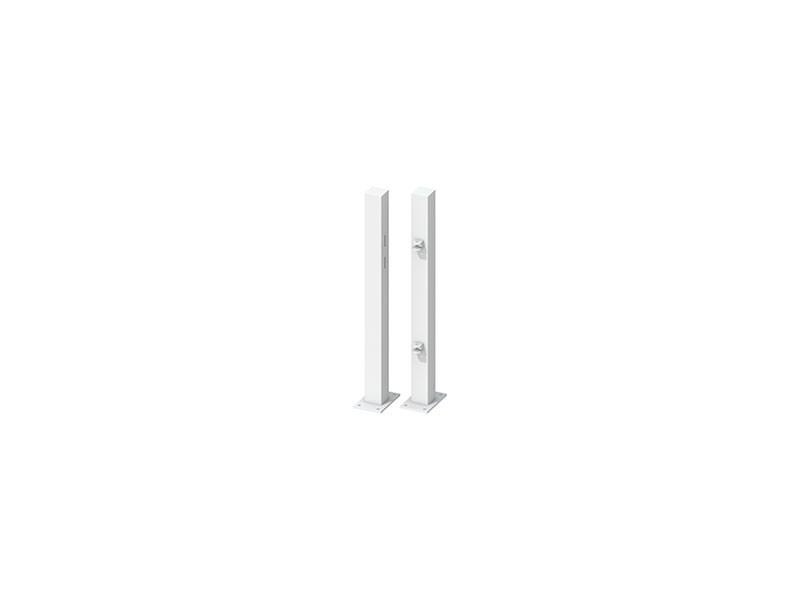 TraumGarten Torpfosten-Set zum Aufschrauben für Einzeltor Weiß - Torhöhe 85 cm
