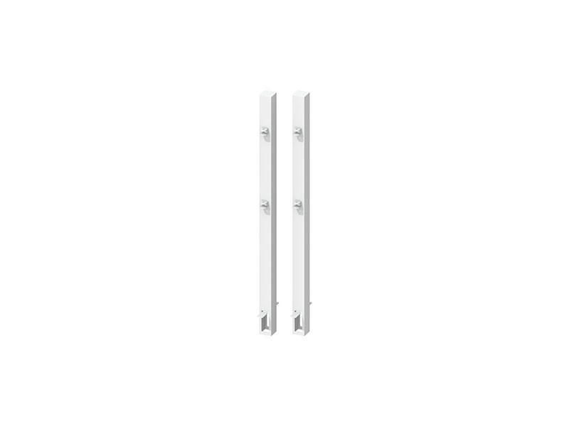 TraumGarten Torpfosten-Set zum Einbetonieren für Doppeltor Weiß - Torhöhe 85 cm