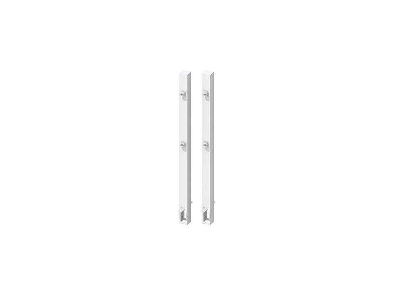 TraumGarten Torpfosten-Set zum Einbetonieren für Doppeltor Weiß - Torhöhe 70 cm