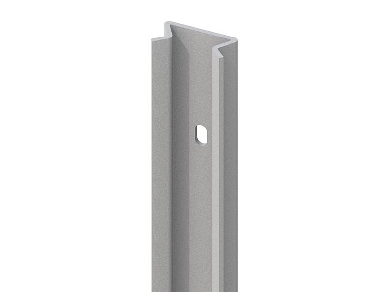 TraumGarten Pfosten-Adpater 45 Grad Silber - 105 cm