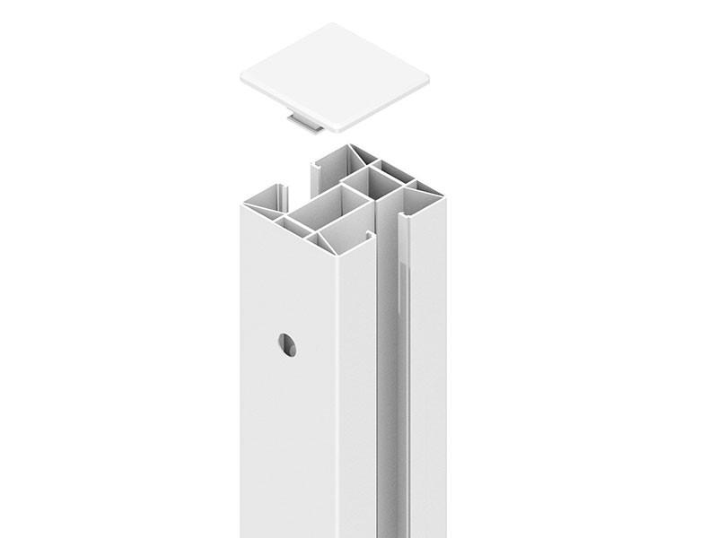 TraumGarten SYSTEM Klemmpfosten Weiß - 192 cm