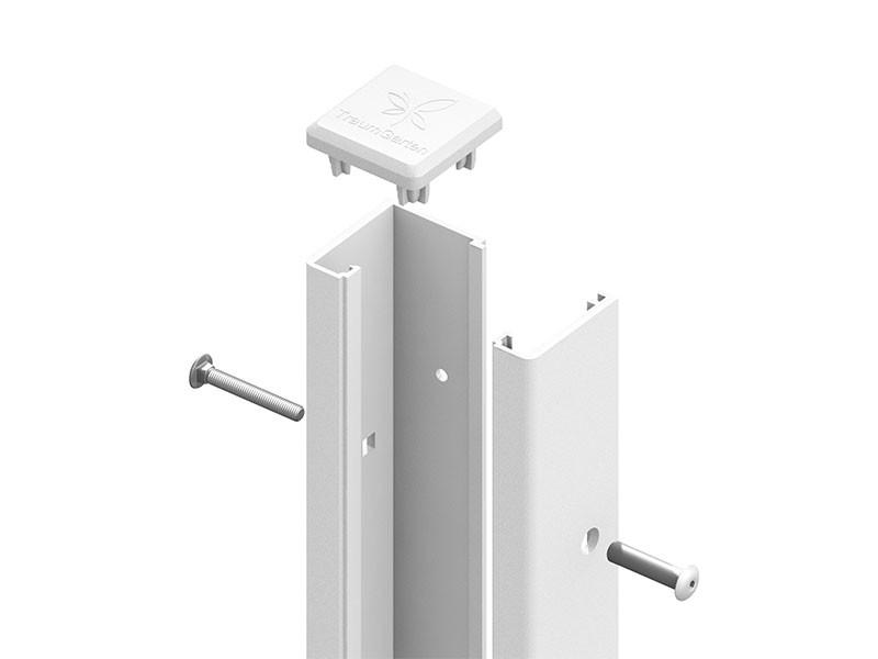 TraumGarten SYSTEM U-Klemmprofil Weiß - 192 cm