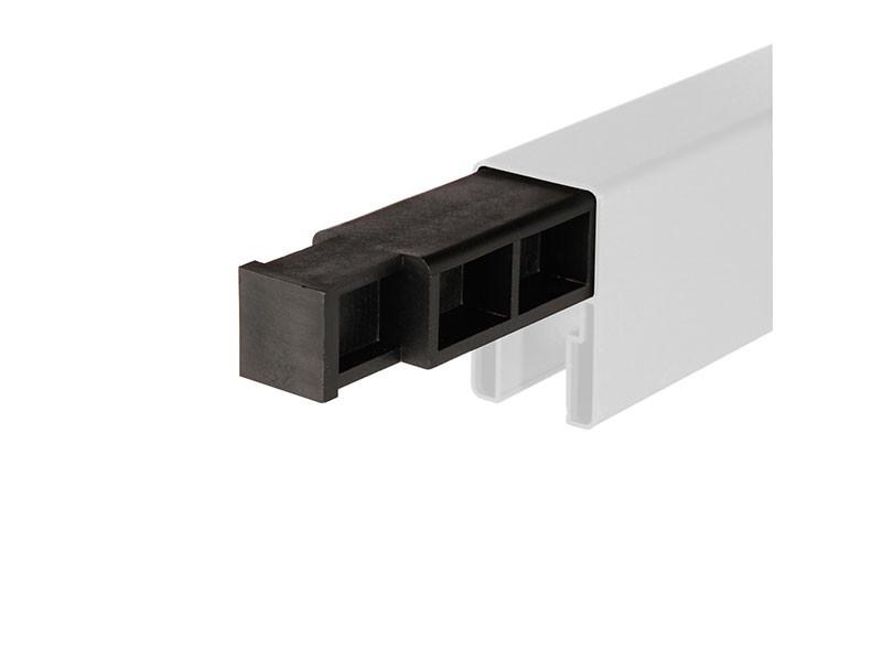 TraumGarten SYSTEM Senkrecht-Adapter-Set Silber - 6 x 4 x 176 cm - inkl. T-Verbinder