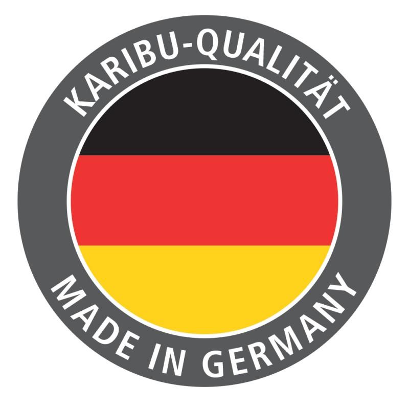 Karibu Holz-Gartenhaus Goldendorf 3 - 19 mm Schraub-/Stecksystem - Flachdach - terragrau