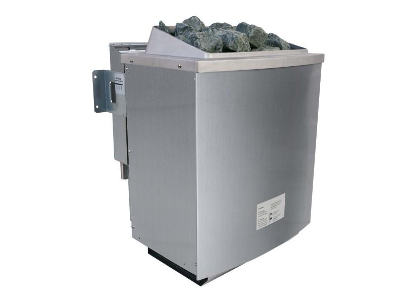 Karibu Bio-Kombiofen 9 kW inkl. Steuergerät Easy Bio + 18kg Diabas-Steinen + Anschlusskabeln