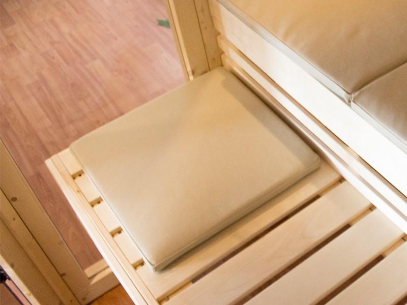 Karibu Sitzauflage - Kunstleder - beige