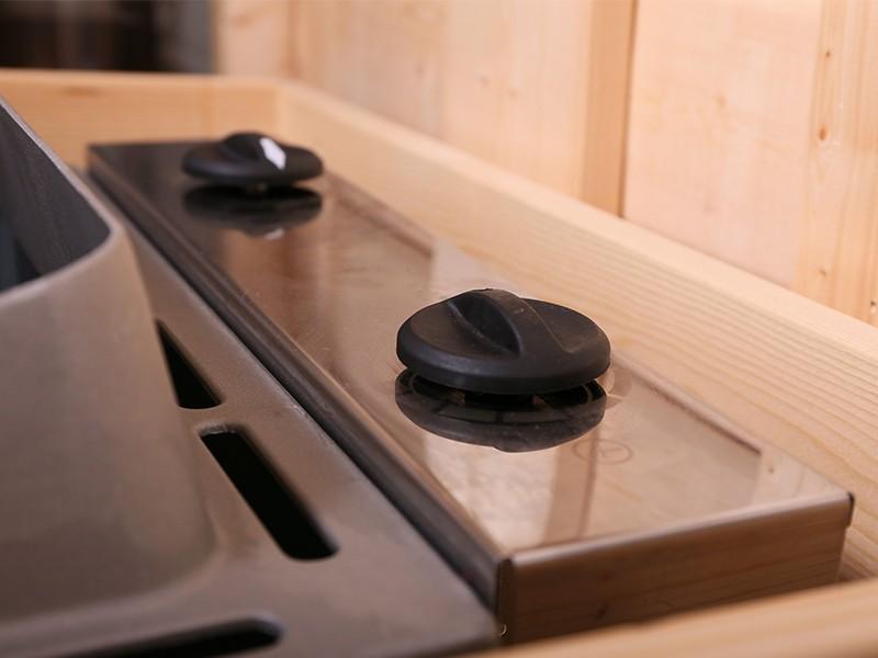 Karibu Saunaofen 4,5 kW - mit integrierter Steuerung (Kabel A notwendig) - inkl. 18kg Saunasteine